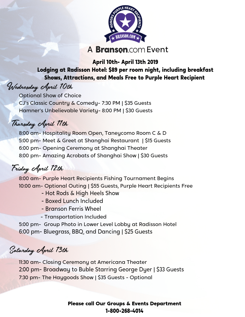 Purple Heart Itinerary Doc- Revised